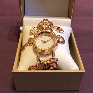 New Macy's Charter Club Charm Bracelet Watch